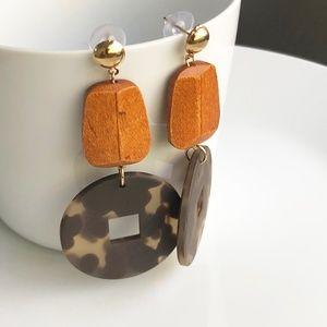 Jewelry - NEW Acrylic Wooden Drop Earrings